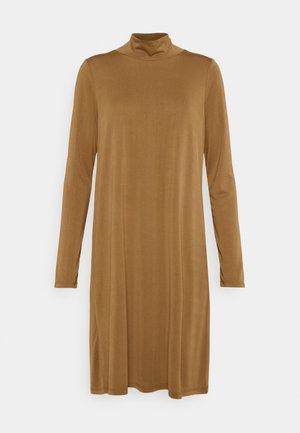 OBJANNIE HIGHNECK DRESS - Jerseyjurk - sepia