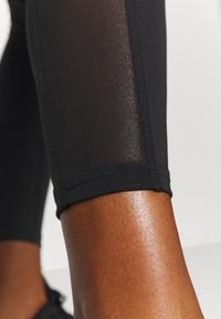 South Beach - SIDE PANEL LEGGING - Punčochy - black - 4
