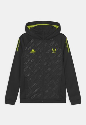 MESSI - Zip-up sweatshirt - black/semi solar yellow
