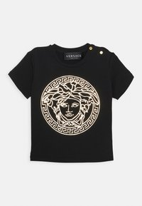 Versace - SHORT SLEEVES MEDUSA UNISEX - Print T-shirt - black/gold - 0