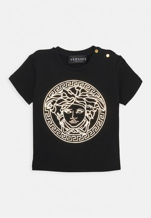 SHORT SLEEVES MEDUSA UNISEX - Print T-shirt - black/gold
