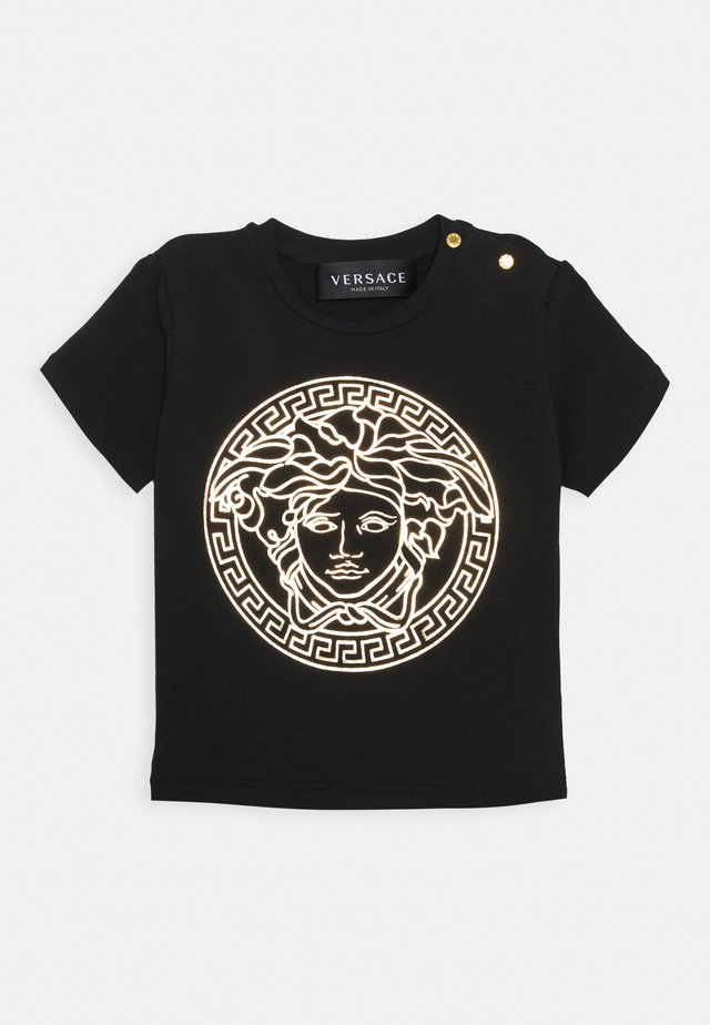 SHORT SLEEVES MEDUSA UNISEX - T-shirt print - black/gold