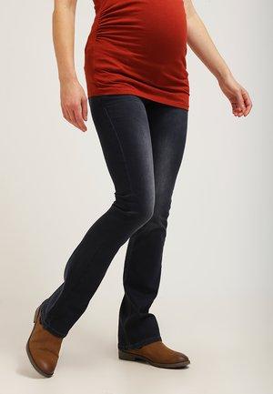 JADE - Bootcut jeans - dark stone wash
