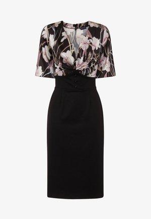 EMMA - Shift dress - schwarz/flieder