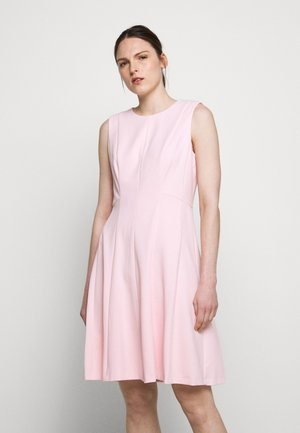FIT AND FLARE - Jersey dress - pink rose