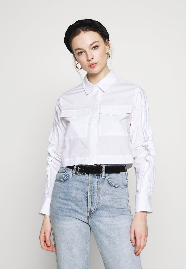 NEVER ENOUGH - Button-down blouse - white