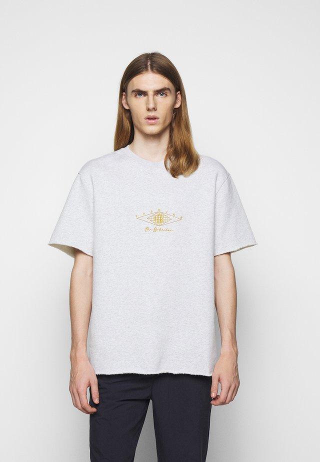 CHUNKY TEE - T-shirt print - grey melange
