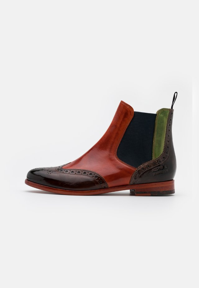 SELINA - Classic ankle boots - woodwinter orange/new grass stone/navy