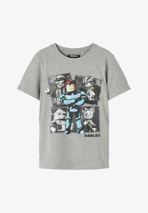 ROBLOX-PRINT - Print T-shirt - grey melange
