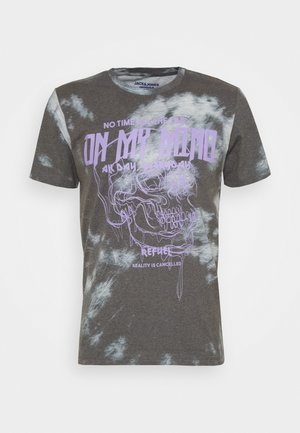 JORTIME TEE CREW NECK - Print T-shirt - tap shoe/purple