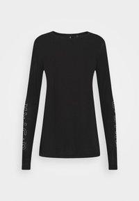 G-Star - SHEER GRAPHIC SLIM FIT - Long sleeved top - black - 6