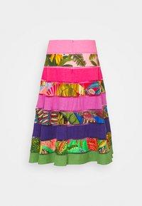 Farm Rio - RAINBOW MIXED TIERED MIDI SKIRT - A-line skirt - multi-coloured - 1