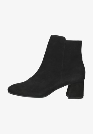 High heeled ankle boots - schwarz suede