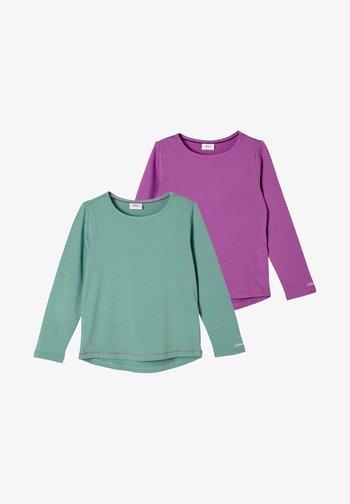 2PACK - Long sleeved top - petrol/lilac