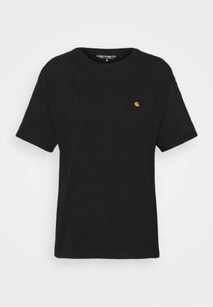 CHASE - Basic T-shirt - black/gold