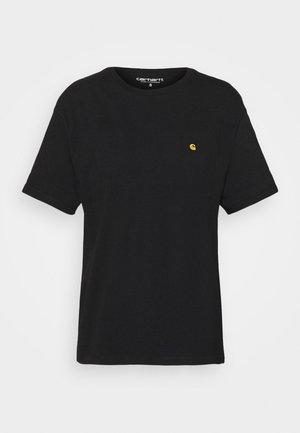 CHASE - T-shirts basic - black/gold