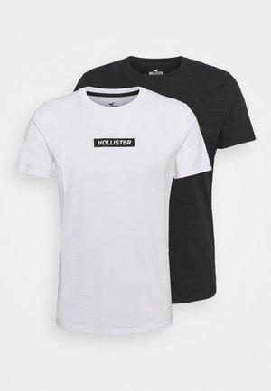 2 PACK - Camiseta estampada - white/black