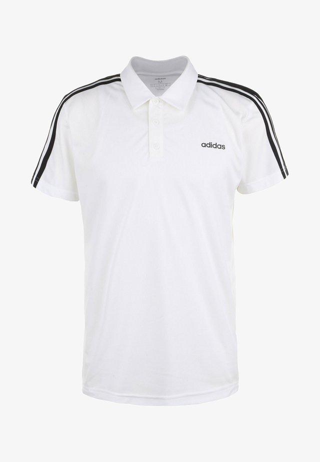 Polo shirt - white/black