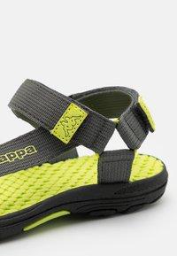 Kappa - UNISEX - Walking sandals - grey/lime - 5