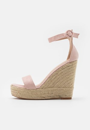 High heeled sandals - dusty pink