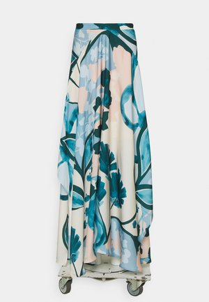 PRINT SKIRT - Maxi skirt - cream beige