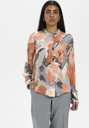 Overhemdblouse - brushed sienna