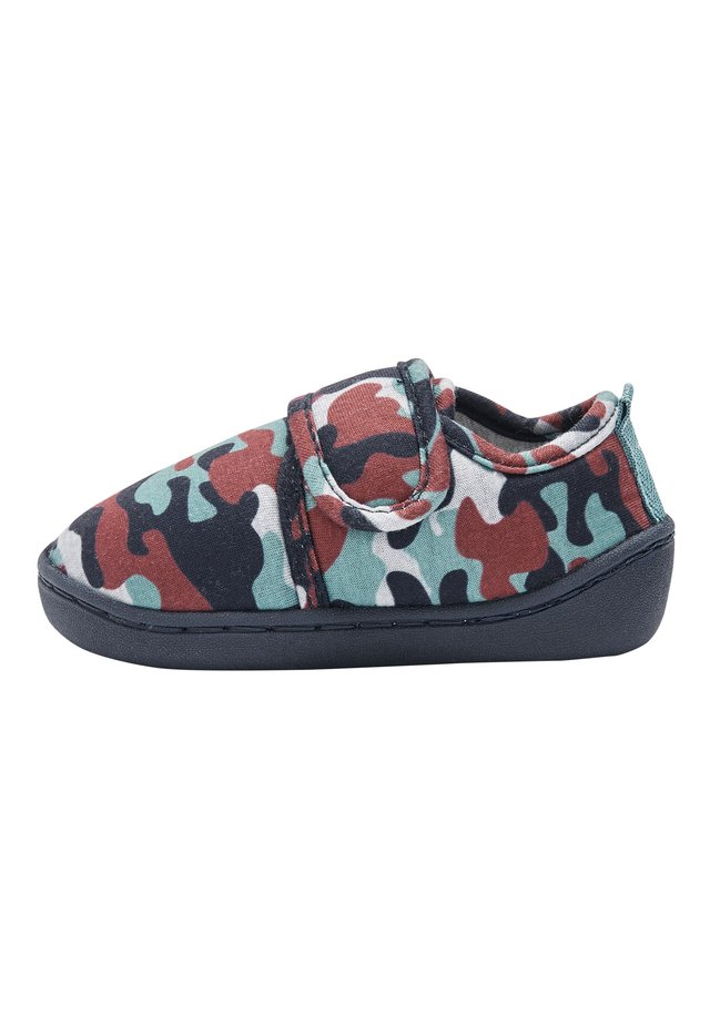 MUTED CAMO SLIPPERS (YOUNGER) - Kravlesko - green