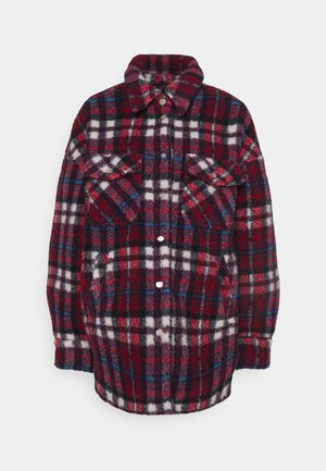 STELLA REBELLE CHECK TEDDY - Light jacket - bordeaux