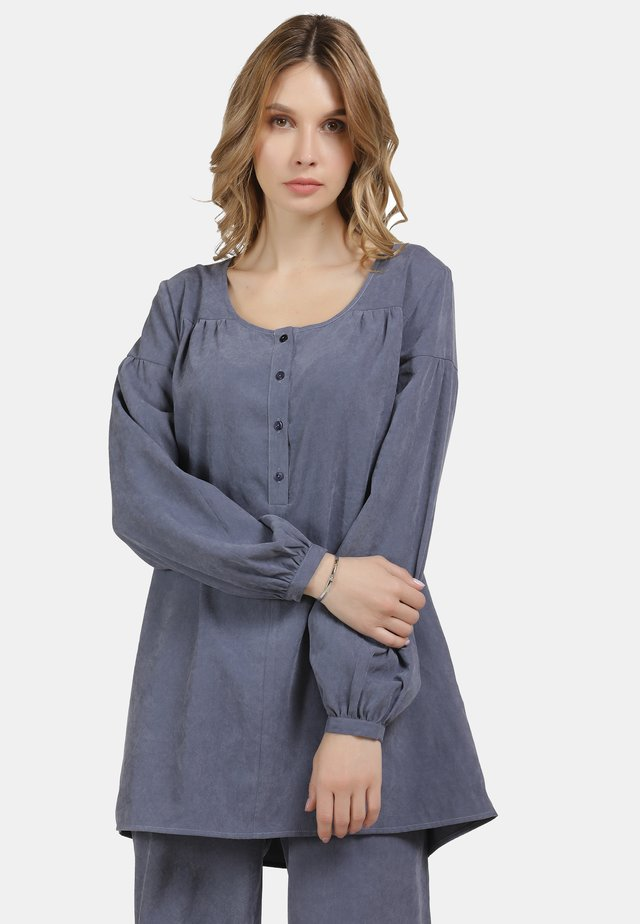 LONGBLUSE - Blouse - denim blau