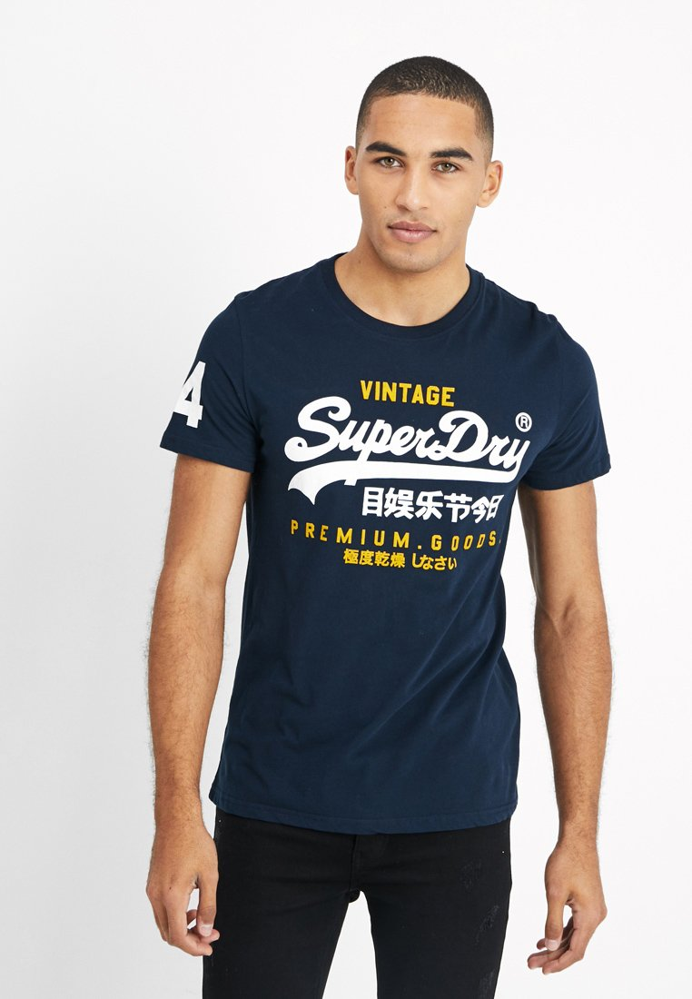 Superdry - PREMIUM GOODS DUO LITE TEE - Print T-shirt - navy