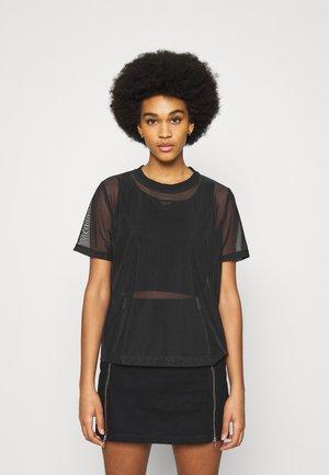SHEER TEE - T-shirt con stampa - black