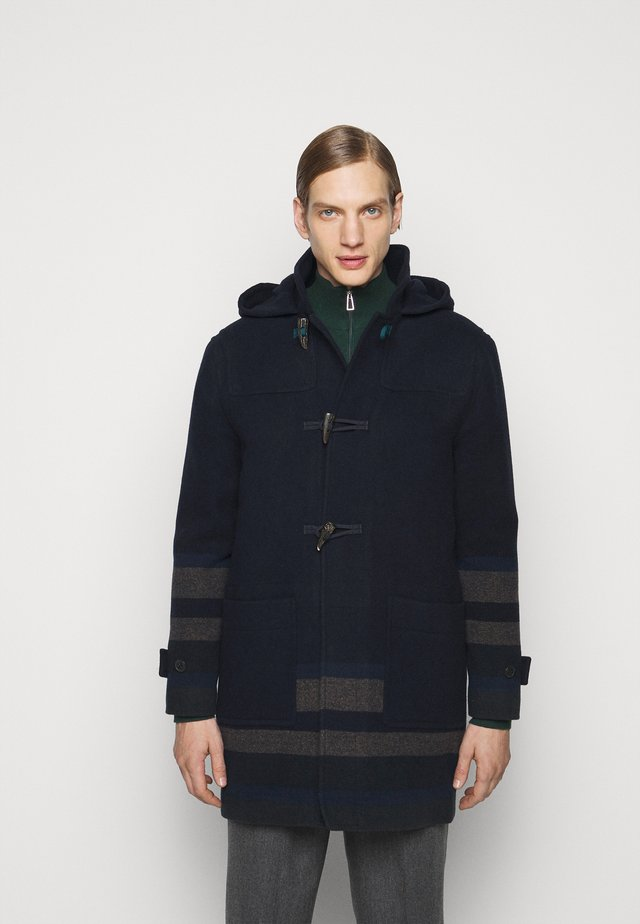 MENS DUFFLE COAT - Classic coat - dark blue/grey