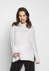 Cotton On - MATERNITY SLOUCHY ROLL NECK - Trui - silver marle - 0