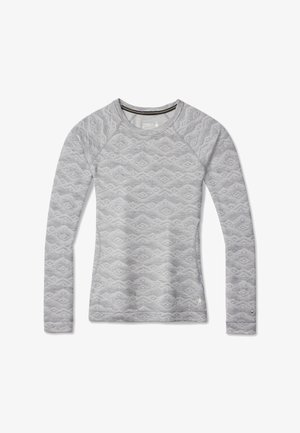 MIDWEIGHT 250 BASELAYER PATTERN CREW - Long sleeved top - light gry mtn fairsle