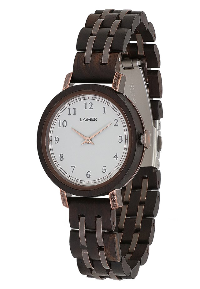 LAIMER QUARZ HOLZUHR - ANALOGE ARMBANDUHR EMMA - Montre - brown