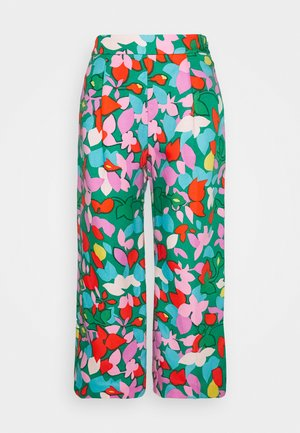 TARYN PANT LEAFY - Trousers - purple/green
