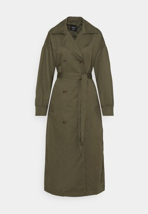 JACKET TESS - Trenchcoat - dark khaki