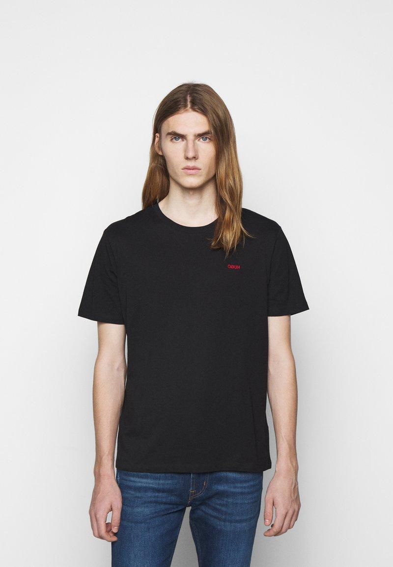 HUGO - DERO - T-shirt basique - black