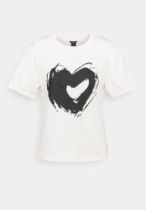 HELGA - T-shirt print - light beige