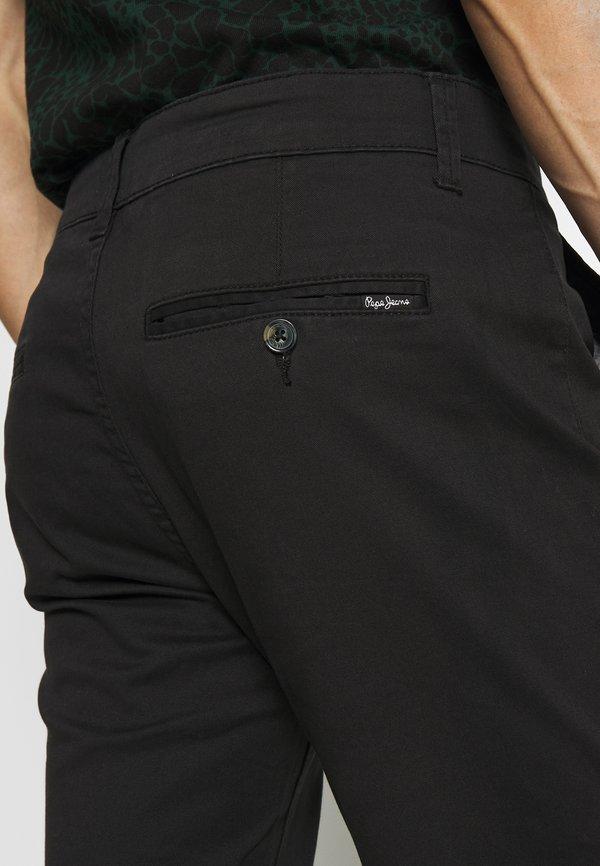 Pepe Jeans SLOANE - Chinosy - black/czarny Odzież Męska DPOF