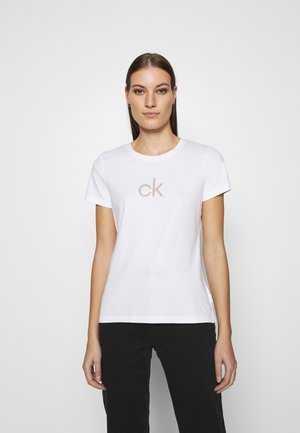 LOGO TEE - Print T-shirt - bright white