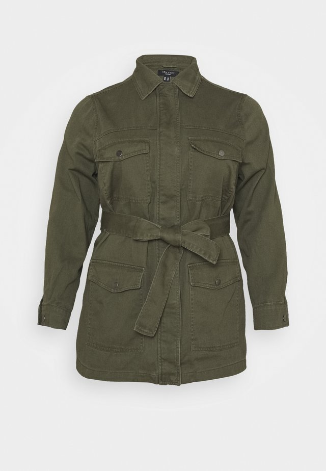 LOTUS BELTED SHACKET - Korte jassen - khaki