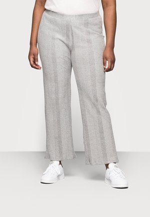 PCMANVI WIDE PANT - Tracksuit bottoms - dark grey melange