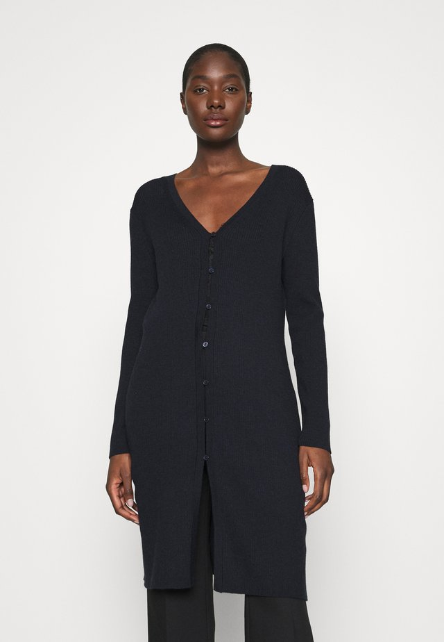 BUTTON FRONT DUSTER  - Kardigan - preppy navy