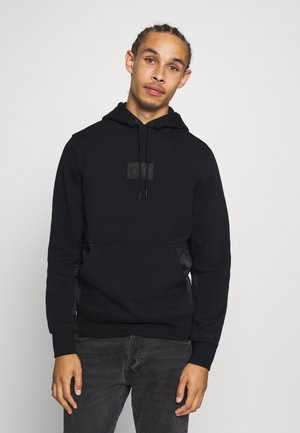 MIXED MEDIA HOODIE - Hoodie - black