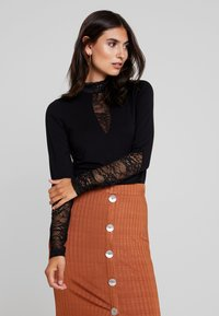 Culture - BLOUSE - Long sleeved top - black - 0