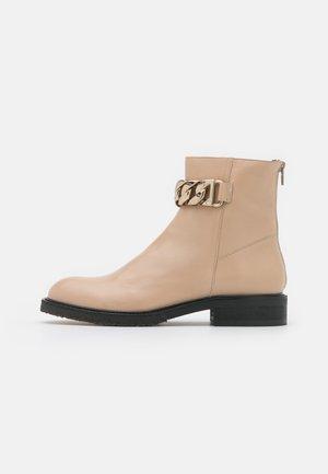 Kotníkové boty - beige/gold