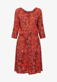 edc by Esprit - MIT ALLOVER-PRINT - Day dress - terracotta - 4