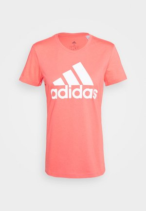 BOS TEE - T-Shirt print - orange/white