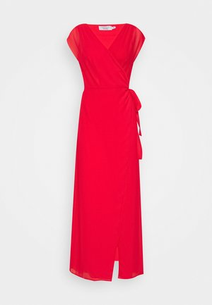 PAMELA REIF X NA-KD OVERLAPPED DRESS - Maxi dress - red
